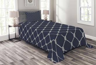 Classic Vertical Sea Rope Bedspread Set