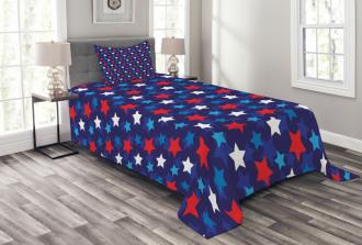 American Flag Stars Bedspread Set