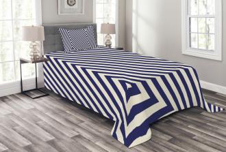 Triangle and Stripes Bedspread Set