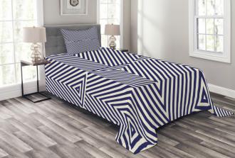 Geometrical Triangle Icon Bedspread Set