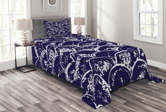 Round Abstract Modern Bedspread Set