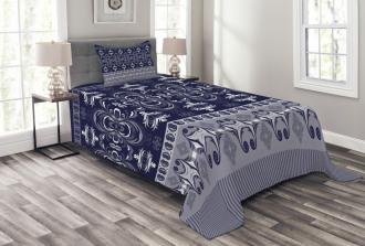 Floral Horizontal Bedspread Set
