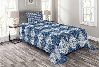 Oriental Patchwork Asian Bedspread Set