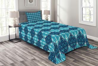 Patchwork Style Oriental Bedspread Set
