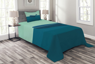 Blue Whale in the Sea Bedspread Set