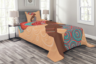 Ethnic Tribal Native Trend Bedspread Set