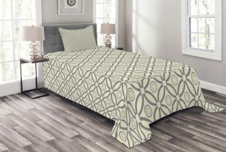 Circular Lines Design Bedspread Set