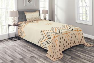 Primitive Aztec Pattern Bedspread Set
