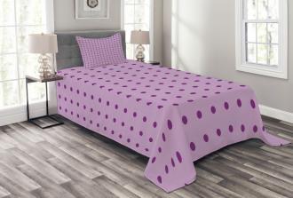 Fashion Polka Dots Bedspread Set