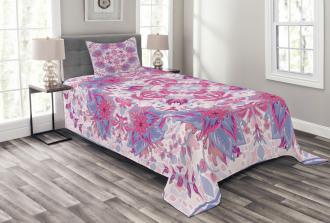 Boho Ethnic Floral Bedspread Set