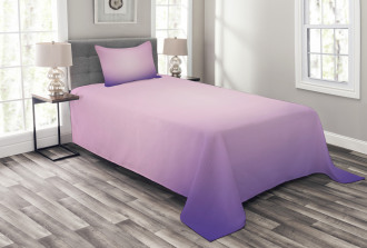 Pink and Purple Ombre Bedspread Set