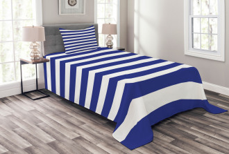 Navy Nautical Marine Bedspread Set