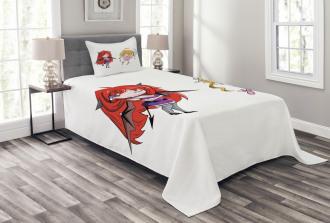 Japanese Fairytale Art Bedspread Set