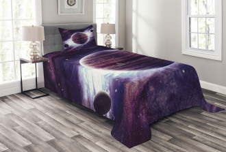 Outer Space Planets Mars Bedspread Set