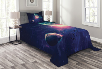 Outer Space Mars Planets Bedspread Set