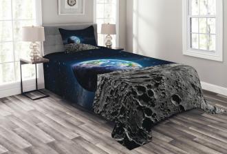 Moon Surface Luna Design Bedspread Set