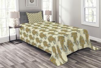 Ethnic Boho Culture Leaf Bedspread Set