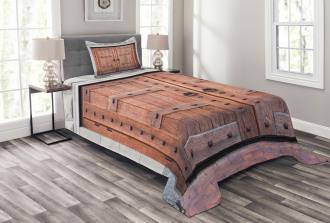 Antique French Wood Door Bedspread Set