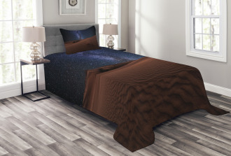 Desert Lunar Life on Mars Bedspread Set