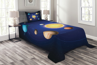 Solar System with Planets Bedspread Set