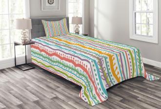 Vertical Swirl Lines Bedspread Set