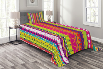 Ethnic Vintage Forms Bedspread Set