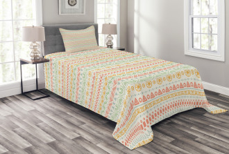 Geometric Aztec Shapes Bedspread Set
