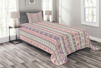 Ancient Floral Leaves Bedspread Set