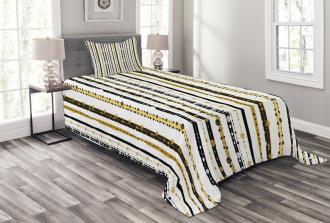 Vertical Lines Rounds Bedspread Set