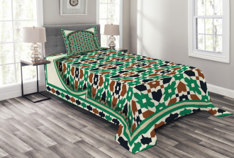 Moroccan Arch with Floral Bedspread Set