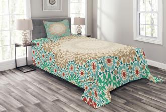 Antique Floral Mosaic Form Bedspread Set