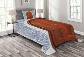 Antique Stars Wooden Door Bedspread Set