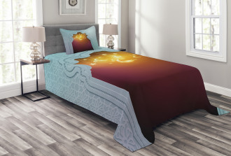 Arabic Signs and Stars Bedspread Set