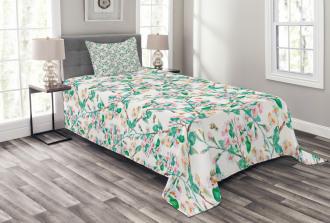 Japanese Spring Blossoms Bedspread Set
