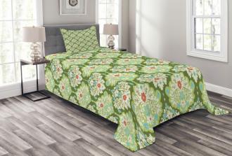 Baroque Floral Figure Bedspread Set