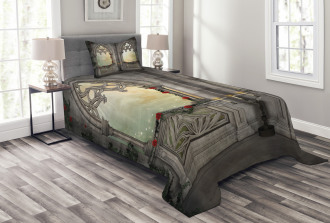 Oriental Rose and Flower Bedspread Set