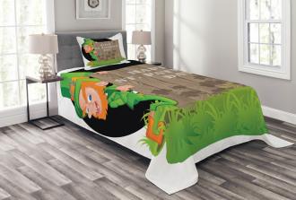 Plank Shamrock Bedspread Set