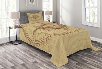 Antique Roman Sun Stone Bedspread Set