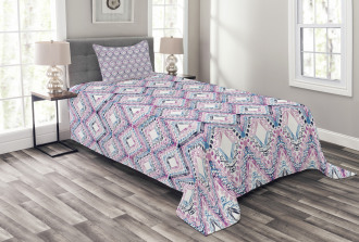 Abstract Tribal Pattern Bedspread Set