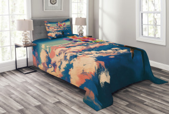 Flying Colors Balloon Bedspread Set