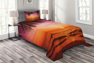 Coconut Palm Tree Leaf Bedspread Set