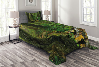Nepal Asia Jungle Forest Bedspread Set