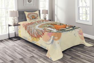 Africa Safari Wild Tiger Bedspread Set