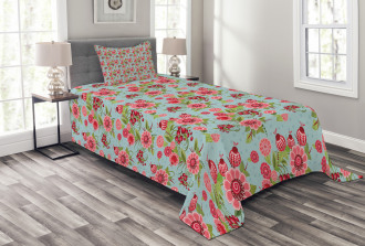 Oriental Bud Leaf Bedspread Set