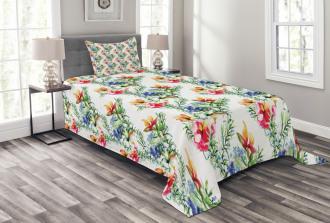 Shabby Chic Lilacs Bedspread Set