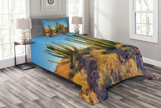 Mountain Cactus Photo Bedspread Set