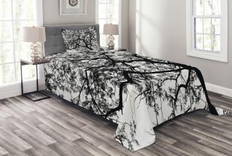 Spooky Black Tree Branch Bedspread Set