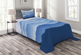 Nature Theme Silhouette Bedspread Set