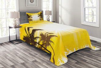 Place with Palm Trees Bedspread Set