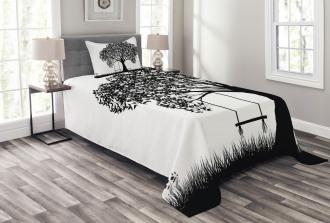 Flowers and Grass Garden Bedspread Set
